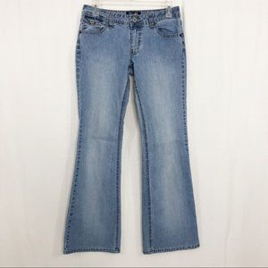 Angels Flare Boot Cut Jeans, Size 9, Blue